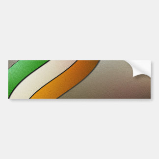 Ireland Flag Colors-Chrome by Shirley Taylor Bumper Sticker