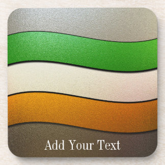 Ireland Flag Colors-Chrome by Shirley Taylor Coaster