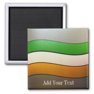 Ireland Flag Colors-Chrome by Shirley Taylor Magnet