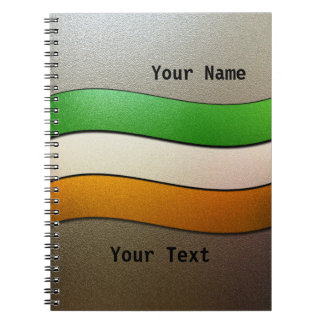 Ireland Flag Colors-Chrome by Shirley Taylor Notebook
