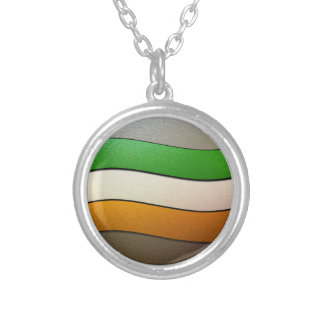 Ireland Flag Colors-Chrome by Shirley Taylor Silver Plated Necklace