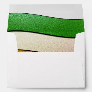 Ireland Flag Colors-Chrome Envelopes