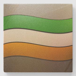 Ireland Flag Colors-Chrome Stone Beverage Coaster