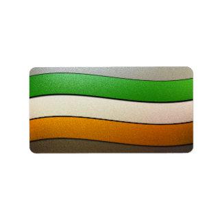 Ireland Flag Colors-Chrome Address Label