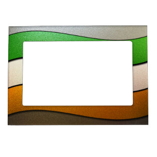 Ireland Flag Colors-Chrome Magnetic Picture Frame