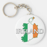 Ireland Flag Colors Keychain