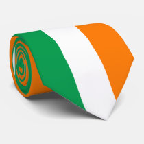 Ireland flag colors neck tie