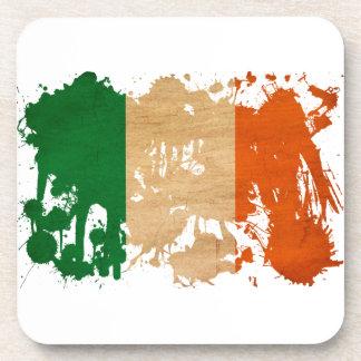 Ireland Flag Beverage Coasters