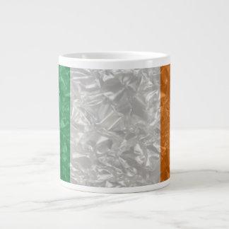 Ireland Flag - Crinkled 20 Oz Large Ceramic Coffee Mug