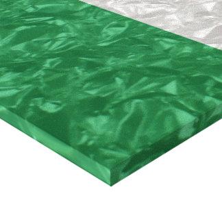 Ireland Flag - Crinkled Canvas Print