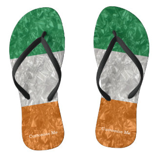 Ireland Flag - Crinkled Flip Flops