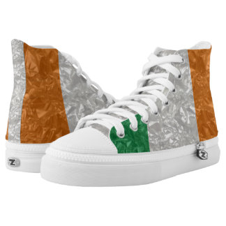 Ireland Flag - Crinkled High-Top Sneakers