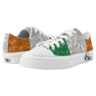 Ireland Flag - Crinkled Low-Top Sneakers
