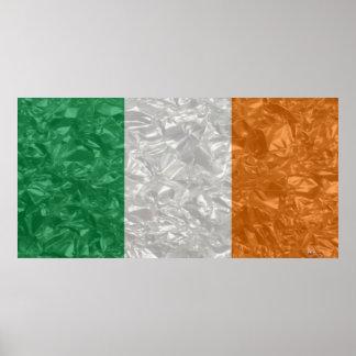 Ireland Flag - Crinkled Poster