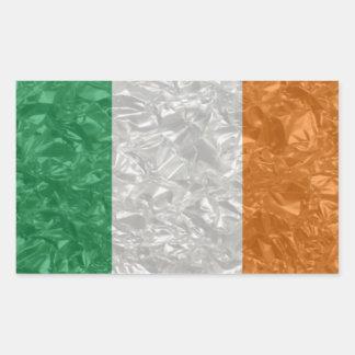 Ireland Flag - Crinkled Rectangular Sticker