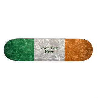 Ireland Flag - Crinkled Skateboard Deck