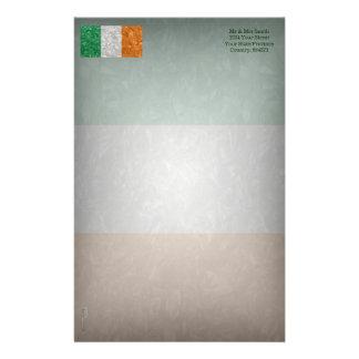 Ireland Flag - Crinkled Stationery