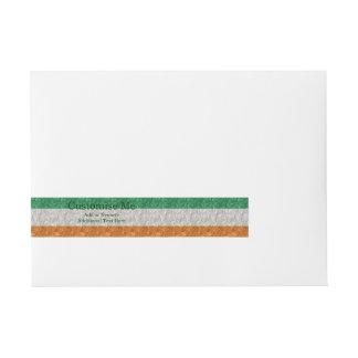 Ireland Flag - Crinkled Wrap Around Address Label
