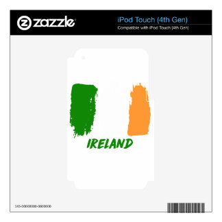 Ireland flag design skins for iPod touch 4G