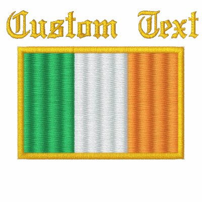 Ireland Flag Embroidered Track Jacket