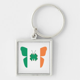 Ireland flag for Irish fans Silver-Colored Square Keychain