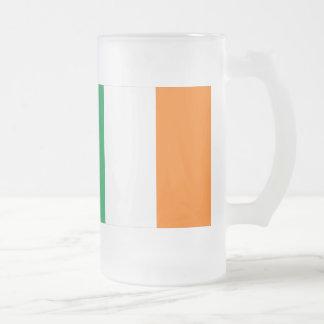 Ireland Flag Frosted Glass Beer Mug