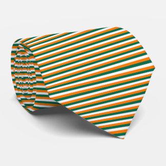 Ireland Flag Green, White, Orange Pinstripe Stripe Tie