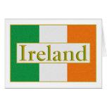 Ireland Flag Greeting Card
