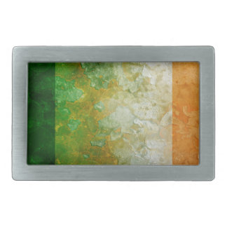 Ireland Flag Grunge Texture Illustration Belt Buckle
