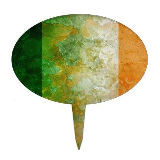 Ireland Flag Grunge Texture Illustration Cake Topper