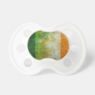 Ireland Flag Grunge Texture Illustration Pacifier
