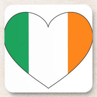 Ireland Flag Heart Drink Coaster