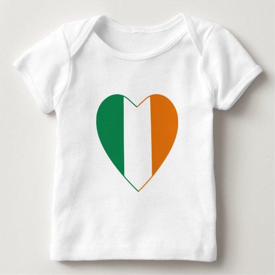 Ireland Flag Heart T-Shirt
