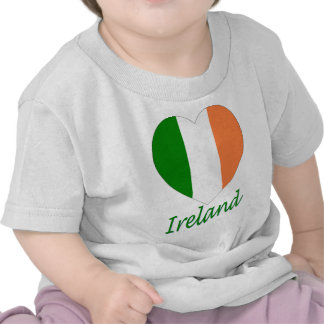 Ireland Flag Heart T Shirts