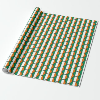 Ireland Flag Honeycomb Wrapping Paper
