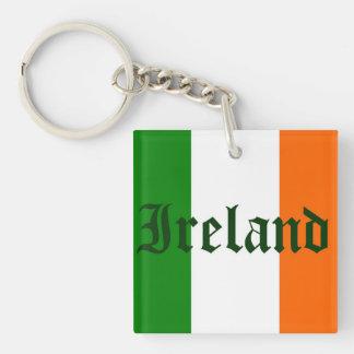 Ireland Flag Double-Sided Square Acrylic Keychain