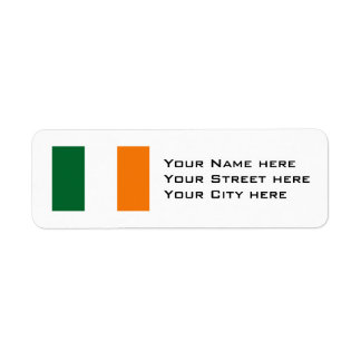 Ireland Flag Return Address Label