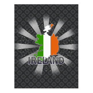 Ireland Flag Map 2.0 Postcards