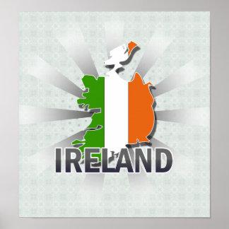 Ireland Flag Map 2.0 Print