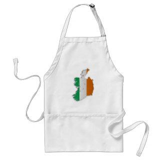 Ireland Flag Map Adult Apron