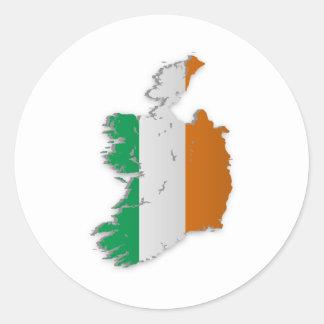 Ireland Flag Map Classic Round Sticker