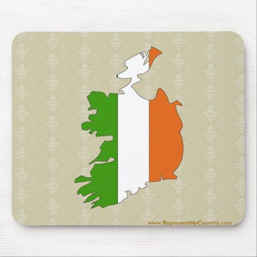 Ireland Flag Map full size Mousepads