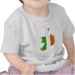 Ireland Flag Map full size Tshirt