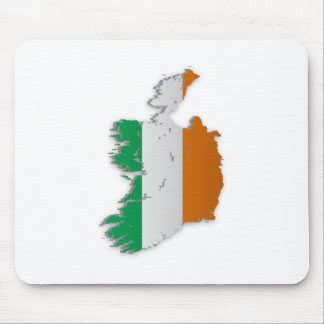 Ireland Flag Map Mouse Pad