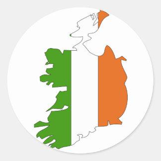 Ireland flag map stickers