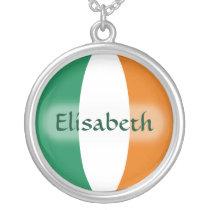 Ireland Flag   Name Necklace