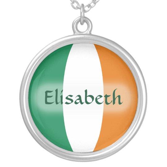 Ireland Flag + Name Necklace