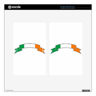 Ireland Flag Ribbon Decals For Kindle Fire