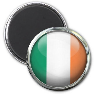 Ireland Flag Round Glass Ball Magnet
