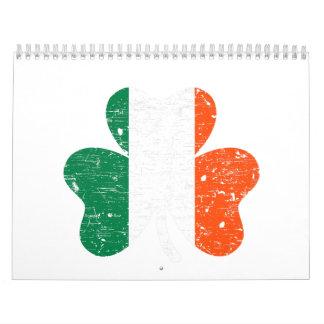 Ireland flag shamrock calendars